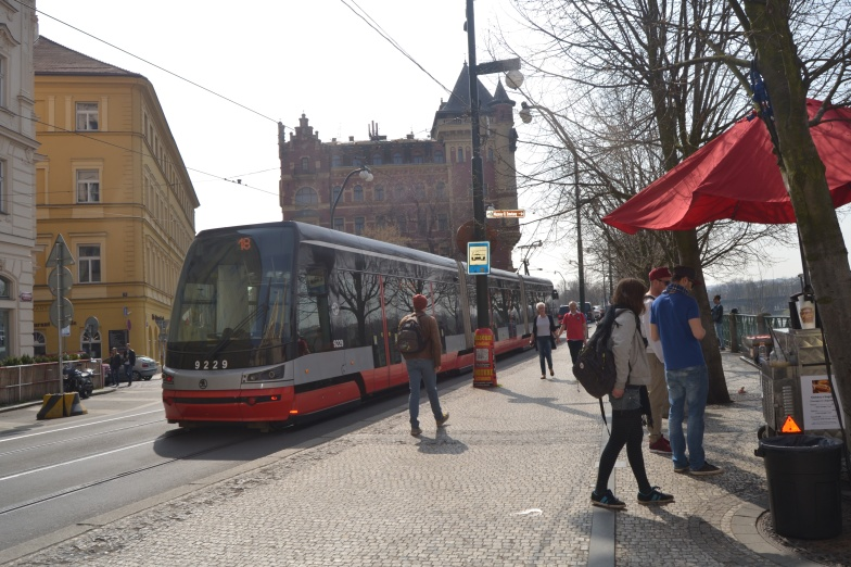 The famous trams of Prague