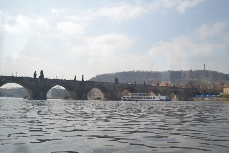 Charles Bridge also known as Karluv Most on the Vltava River